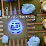 Single microLED pixel