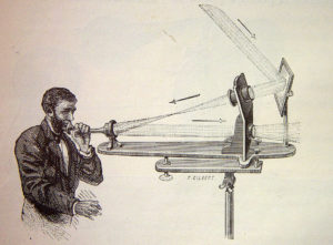 The photophone, invented by Alexander Graham Bell in 1880