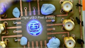 Single microLED pixel